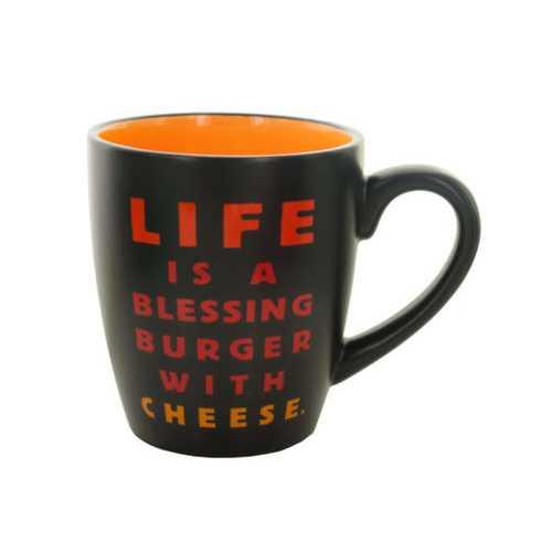 14 oz Blessing Burger Ceramic Mug ( Case of 12 )