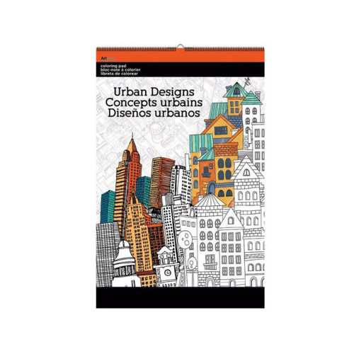 Urban Designs Large Coloring Pad ( Case of 12 )