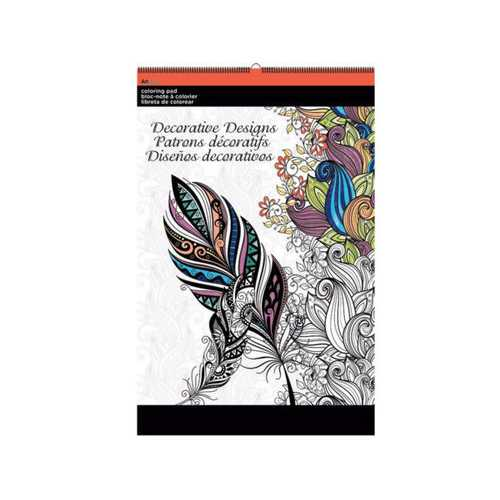 Decorative Designs Large Coloring Pad ( Case of 12 )