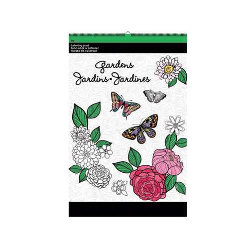 Gardens Large Coloring Pad ( Case of 12 )