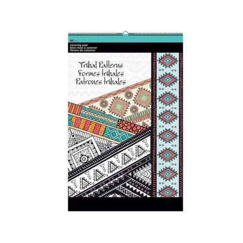 Tribal Patterns Large Coloring Pad ( Case of 8 )