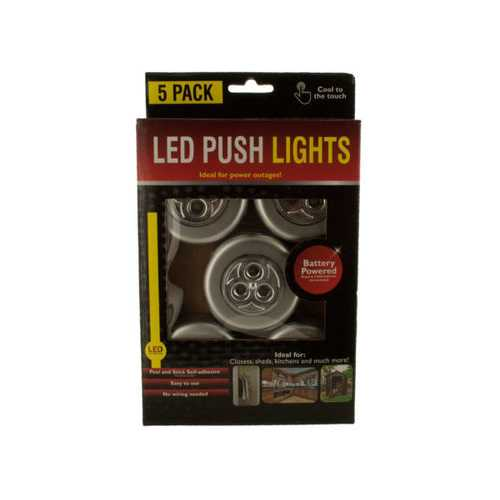 LED Push Lights ( Case of 12 )
