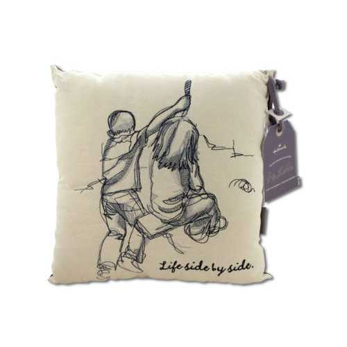 Life Side by Side Embroidered Accent Pillow ( Case of 4 )