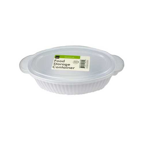 Oval Container with Lid ( Case of 24 )