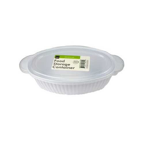 Oval Container with Lid ( Case of 36 )