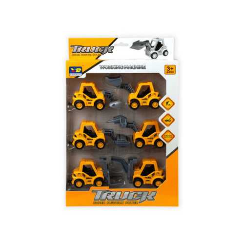 6 Piece Pull Back Super Friction Power Trucks ( Case of 6 )