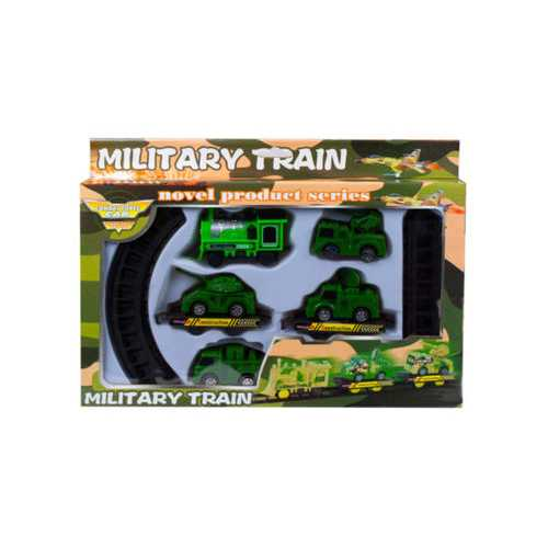 Battery Operated Military Train with Rails ( Case of 12 )