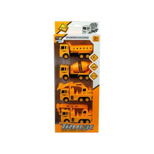 4 Pack Construction Trucks ( Case of 2 )