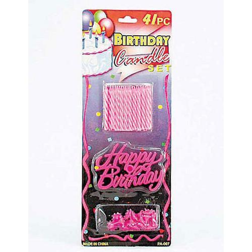 Birthday Candle & Cake Decoration Set ( Case of 72 )
