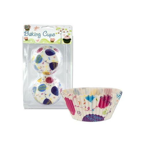Happy Birthday Baking Cups ( Case of 72 )