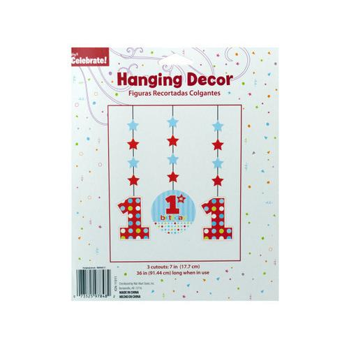 1st Birthday Hanging Decor Cutouts ( Case of 72 )