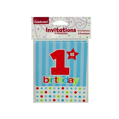 1st Birthday Invitations ( Case of 96 )
