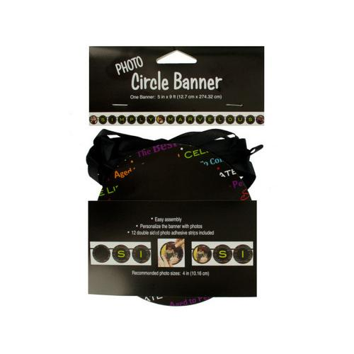 Simply Marvelous Photo Circle Banner ( Case of 48 )