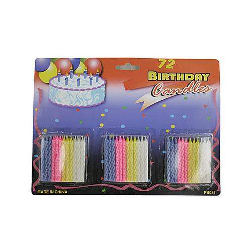 Birthday Candle Set ( Case of 72 )