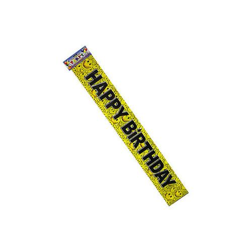 Happy Face Birthday Banner ( Case of 36 )