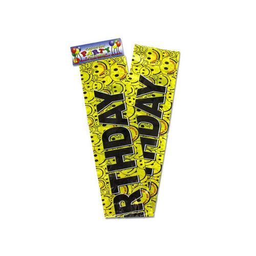 Happy Face Birthday Banner ( Case of 48 )