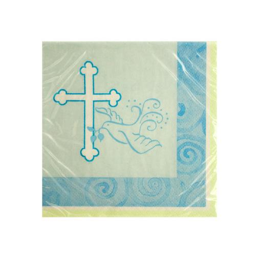 Blue Faithful Dove Beverage Napkins ( Case of 72 )