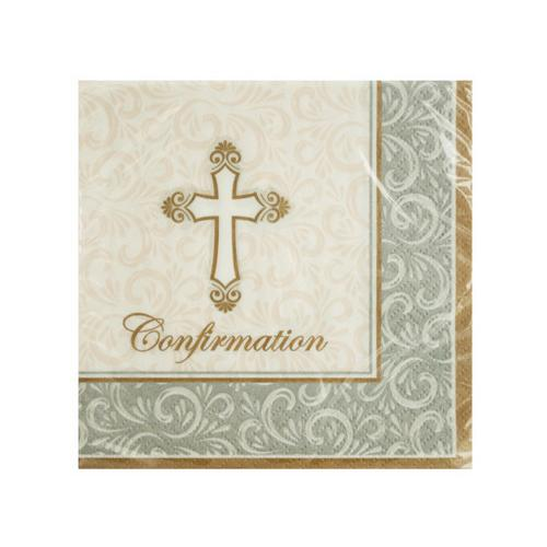 Divinity Confirmation Beverage Napkins ( Case of 24 )