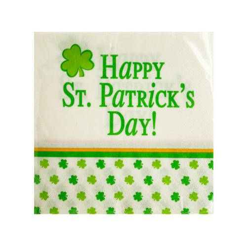 Happy St Patrick's Day Beverage Napkins ( Case of 24 )