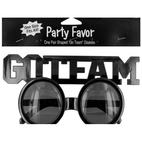 Go Team Shaped Party Favor Glasses ( Case of 24 )