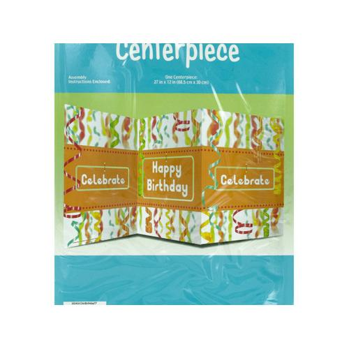 Chic Happy Birthday Table Centerpiece ( Case of 24 )