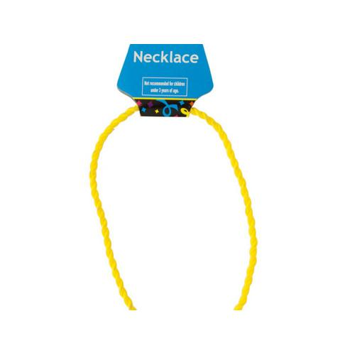 Yellow Twist Sport Necklace ( Case of 72 )
