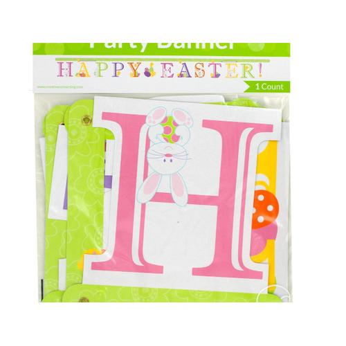 'Happy Easter!' Jointed Party Banner ( Case of 36 )