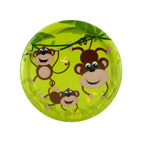 Small Monkeys Party Plates Set ( Case of 72 )