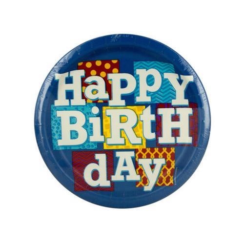 Happy Birthday Blocks Party Plates Set ( Case of 72 )