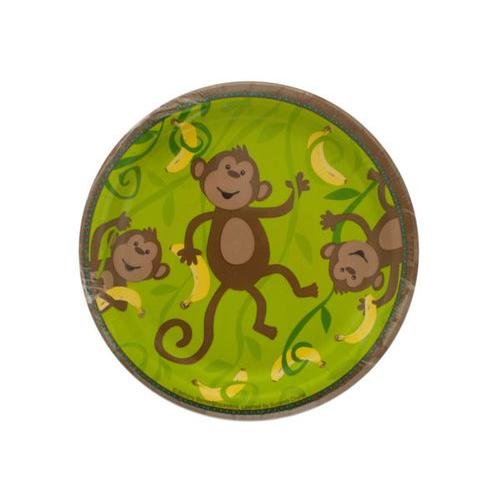 Small Monkeyin' Around Party Plates Set ( Case of 24 )