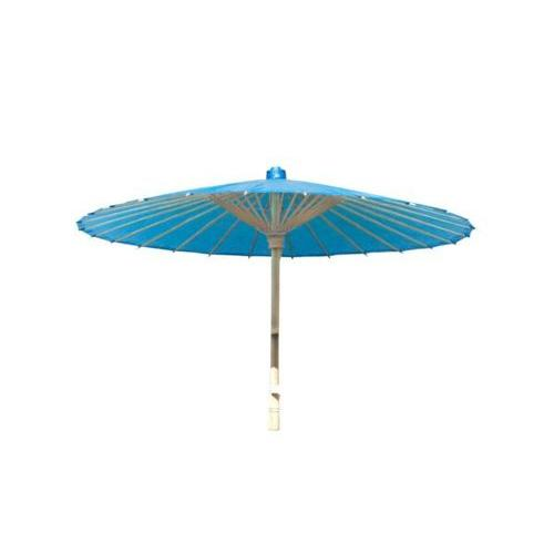 Blue Paper Bamboo Parasol ( Case of 24 )
