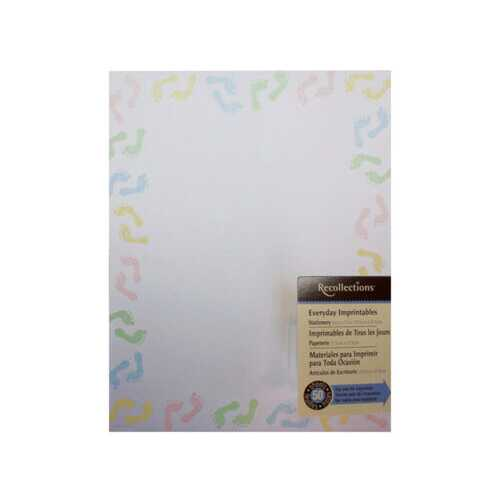 multi colored baby feet stationery 50 sheets ( Case of 48 )