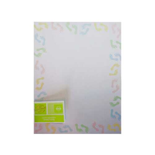baby feet stationery 50 sheets ( Case of 54 )