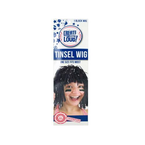 Black Tinsel Wig ( Case of 108 )