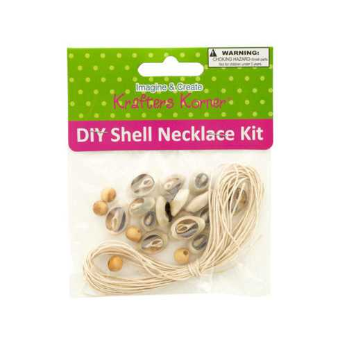 DIY Craft Shell Necklace Kit ( Case of 18 )