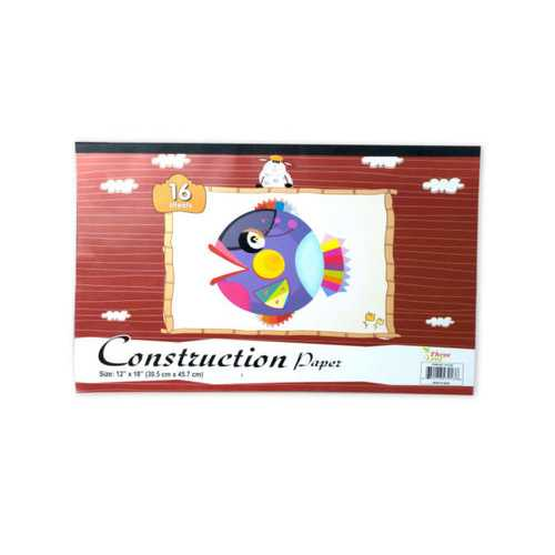 Construction Paper Pad 16 Sheets ( Case of 12 )
