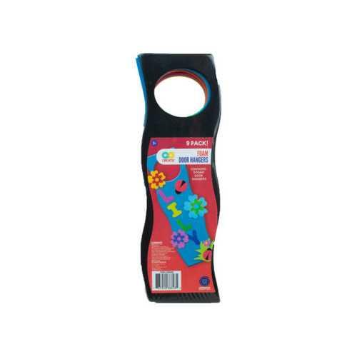 9 Pack Colorful Craft Foam Door Hangers ( Case of 72 )