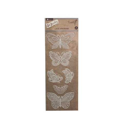 butterfly lace sticker ( Case of 36 )