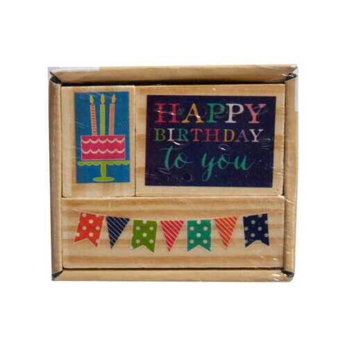 3pk happy birthday stamp set ( Case of 72 )