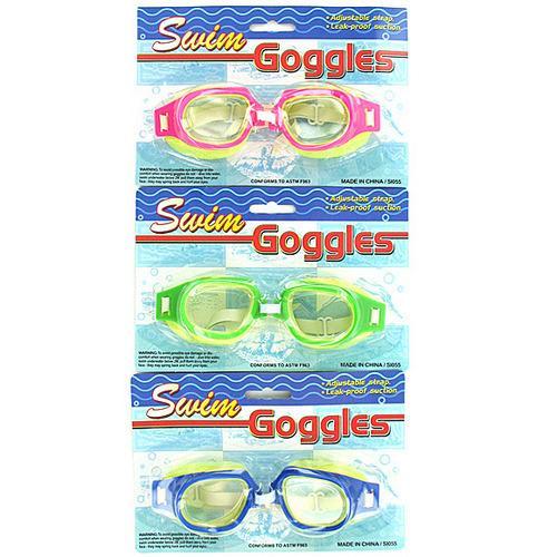Leak-Proof Adjustable Swim Goggles ( Case of 24 )