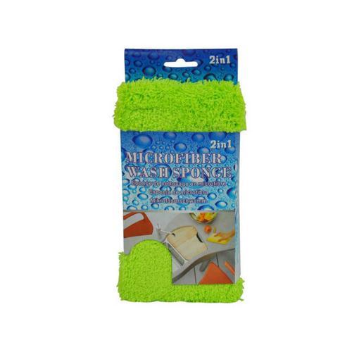 2 In 1 Microfiber Wash Sponge ( Case of 8 )
