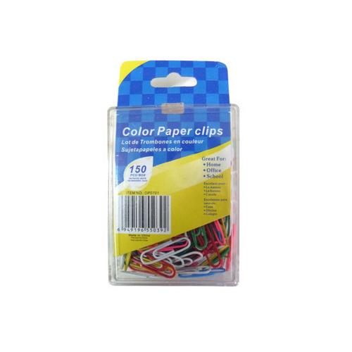 Colored Paper Clips ( Case of 72 )