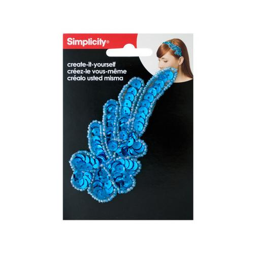 simplicity turquoise sequin swirl headband accent ( Case of 24 )