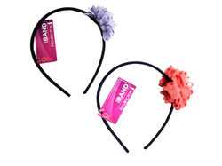 1 Count Flower Head Band in Assorted Colors ( Case of 36 )