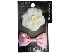 2 Count Salon Clip with Bow and Flower ( Case of 36 )