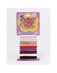 Colored Elastic Hair Bands ( Case of 36 )