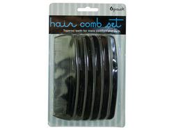 Black Hair Comb Set ( Case of 72 )