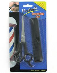 Mustache & Beard Grooming Set ( Case of 72 )