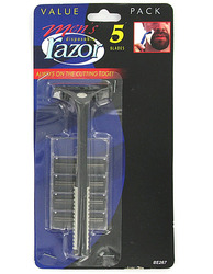 Men's Disposable Razor with Extra Blades ( Case of 24 )
