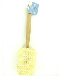 Exfoliating Backwasher with Wooden Handle ( Case of 48 )